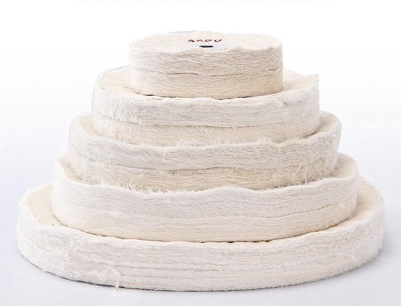 Bánh Vải Đánh Bóng Cotton Trắng